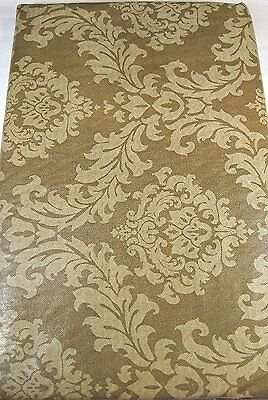 Brown Scroll Flannel Back Vinyl Tablecloths Assorted Sizes including XL