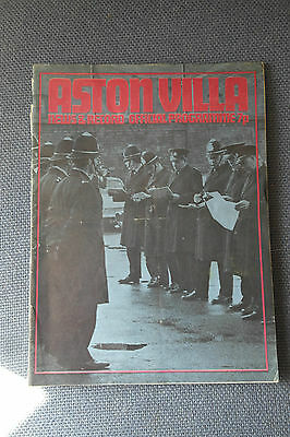 Aston Villa V Manchester City Charity Shield 1972 5/8/72