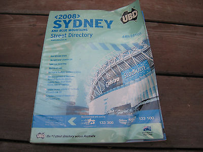 UBD 2008 Sydney And Blue Mountains Street Directory