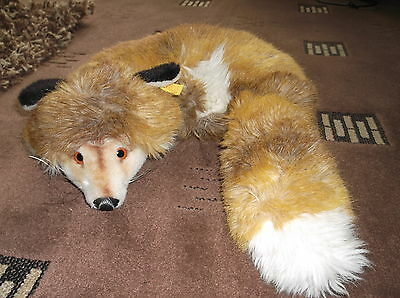 Original, Vintage Rare Steiff- Large Curled Up Fox  Lovely Vintage Condition
