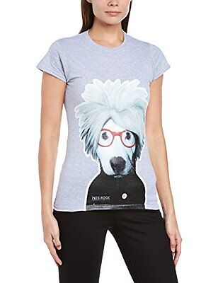 (TG. XX-Large) Grigio (Grey Marl) Brands In Limited - T-shirt collo tondo, Donna