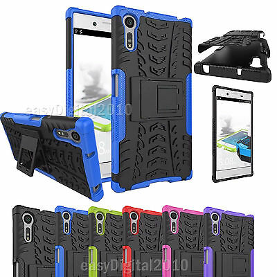 Heavy Duty Armour Shock Proof Builders Workman Case Cover for Sony XPERIA XZ