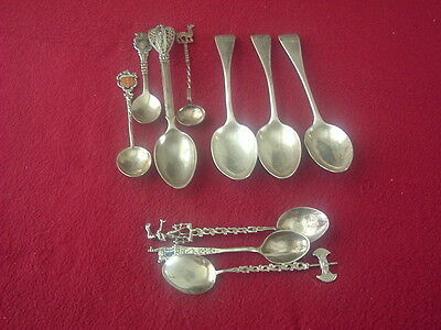 Small Selection Of Various solid Silver Scrap and white metal spoons
