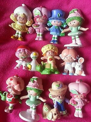 Strawberry Shortcake / Emily Erdbeer: 11 Mini Figuren 80er, 80s