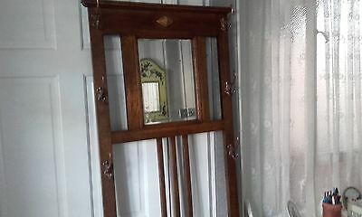 Hall Stand Arts and Crafts Bronze Fittings Tall.6 Feet Tall x 2 Feet Wide.