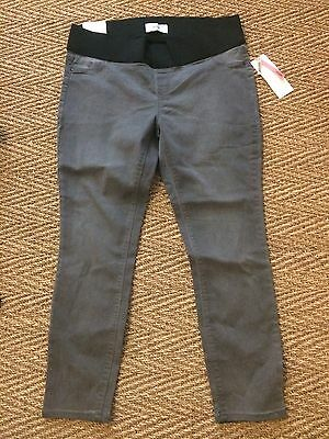 New Look Maternity Under Bump Grey Jeggings Skinny Jeans Sz 14-16
