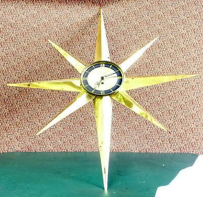 WELBY Germany  8-Day STARBURST Wall Clock for Parts or Repair