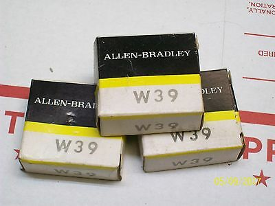 LOT OF 3 NEW Allen Bradley W39 Overload relay thermal heater unit
