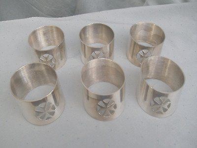 Maltese Silver Plated Napkin Rings...6 Matching Silver Plated Napkin Rings