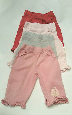 4 x NEXT Baby GIRLS Jeans Leggings trousers 3-6 months Bundle
