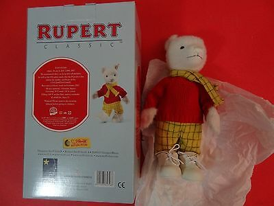 Steieff Rupert Bear Limited To  3000 Non Smoking Home Never Been Out Of Box