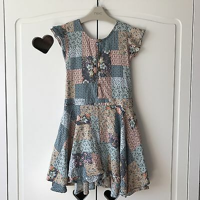 Girls Next Beautiful Summer Floral Jumpsuit  Playsuit Like Dress 7 years