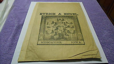 Vintage Muscatine Iowa Advertising Eyrich & Engel Boots and Shoes
