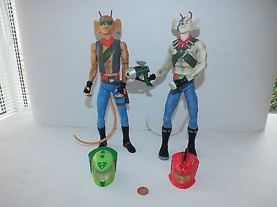 """RARE Vintage 12"""" BIKER MICE FROM MARS Action Figures Fully Articulated"""