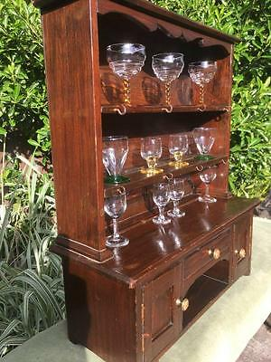 Apprentice Piece Miniature Welsh Dresser with Drinking Glasses