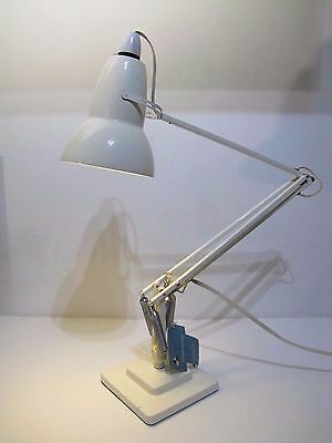 Vintage Herbert Terry Anglepoise Angle Poise Lamp White Square Stepped Art Deco