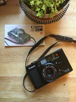 Canon AF35M 35mm Film Camera 38mm 2.8 Point And Shoot Auto Focus