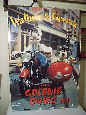 Rare Wallace & Gromit Close Shave Polish Film Festival Poster