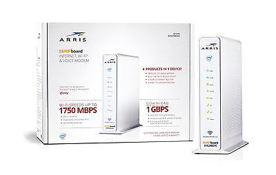 ARRIS SURFboard SVG2482AC Docsis 3.0 Cable Modem/ AC1750 WiFi Router / 2-... New