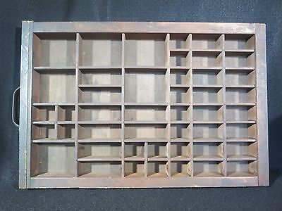 Antique Hamilton Printers Letterpress Type Set Tray Drawer Shadow Box Signed