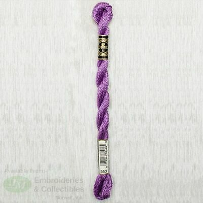 DMC Perle Cotton Thread, Size 5, 25m Skein, Colour 553 VIOLET