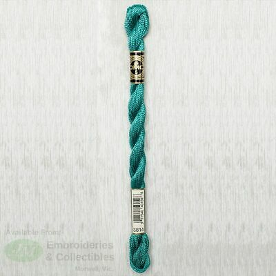 DMC Perle Cotton Thread, Size 5, 25m Skein, Colour 3814 AQUAMARINE