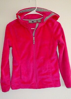 Youth Girls Sweatshirt Size 10-12 L Large FREE TECH Bright Pink Active Athletic