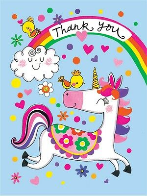 Rachel Ellen Mini Unicorn Design Thank You Cards Girls Party Note Cards 5 Pack