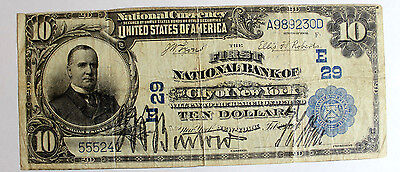 $10 1902 Plain Back First National Bank City Of New York E29 Early Charter Fine