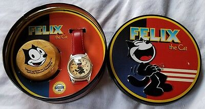"T4 FOSSIL FELIX THE CAT ""LAUGHING FELIX"" LIMITED ED Watch 2 in Series of 3!"