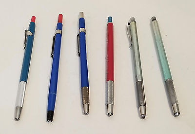 Lot of 6 vintage lead holders / mechanical pencils Staedtler, Teledyne, Gramercy