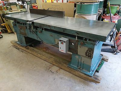 """Vintage Oliver 30"""" Jointer With Knife Grinder Attachment~10 HP Direct Drive"""