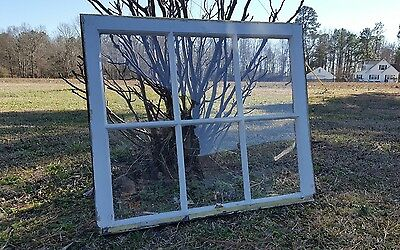VINTAGE SASH ANTIQUE WOOD WINDOW FRAME PINTEREST RUSTIC 34x29 ETSY COUNTRY FARM