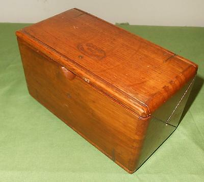 ANTIQUE SINGER SEWING MACHINE ATTACHMENT PUZZLE BOX PAT 1889 with ATTACHMENTS nr