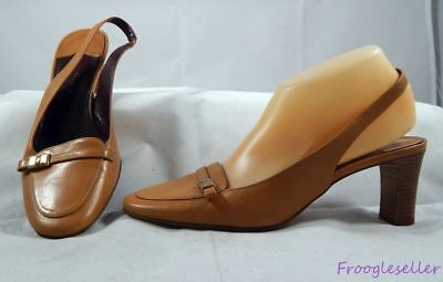 1fe606623e60 Amalfi for Nordstrom womens slingbacks heels shoes 8.5 C brown leather