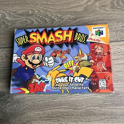 Super Smash Bros. (Nintendo 64, 1999) Complete in box with Instruction manual