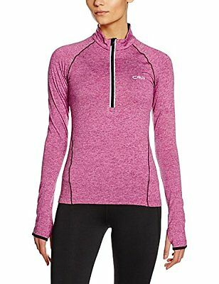 CMP felpa da donna Fitness Sweat, Donna, Fitness Sweatshirt, Berry Mel., XXXL