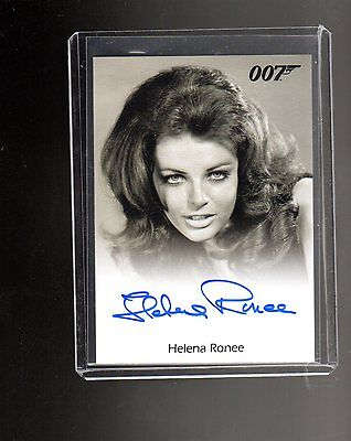 James Bond Archives Final Edition Helena Ronee Autographed card