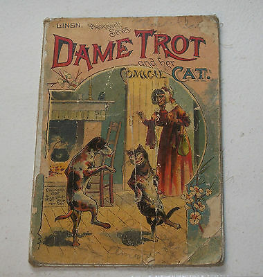 Old Linen Book – Dame Trot & Her Comical Cat 1880s