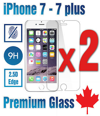 Premium Tempered Glass Screen Protector for iPhone 7 /  iPhone 7 plus /  2-PACK
