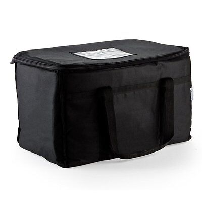 Insulated Nylon Food Delivery Bag 23 in x 13 in x 15 in Black Finish Perfect New