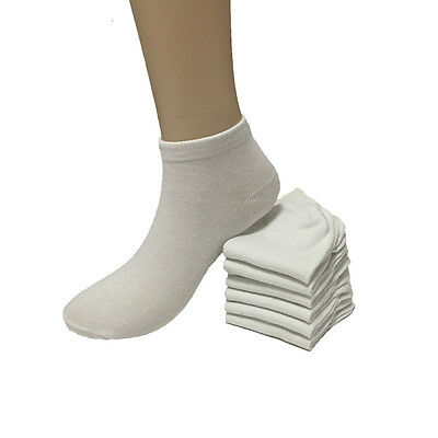New 12 Pairs Fashion Women's Low Cut White Ankle Socks Casual Cotton Size 9-11