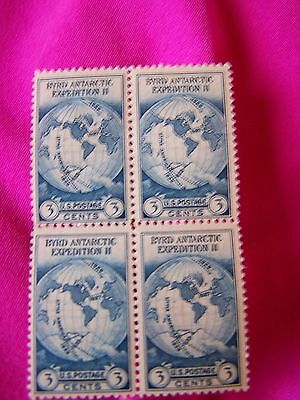 1934 US BYRD Antarctic Exp II Stamp Block of 4-nice unmarked