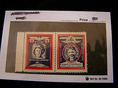 1927 US Lindbergh Commemorative Labels-nice unmarked