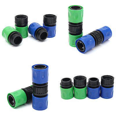 """3/8"""" Female + Male Adaptor Garden Water Hose Pipe Connector Coupler Fitting Set"""