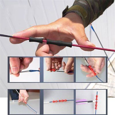 Hunting Archery Target Recurve Bowstring Finger Guard Cover Soft Silicon  P$