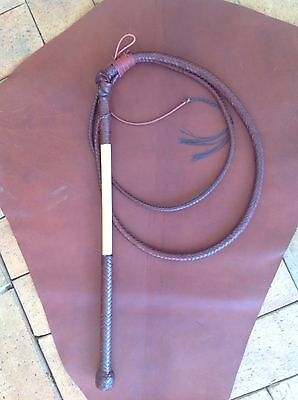 Stock whip, 6'x 8 plait kangaroo hide 'Will Dargan whips' stockwhip