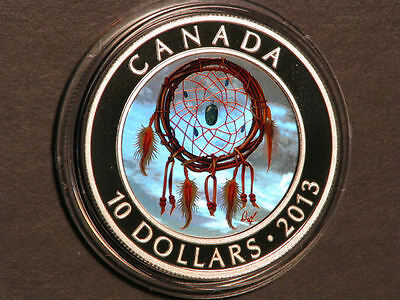 CANADA 2013 $10 Dreamcatcher Silver Colorized Choice Proof in Capsule