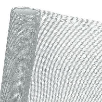 Fence panels Screening network Shading net 85% 4.92ft Br. silver grey
