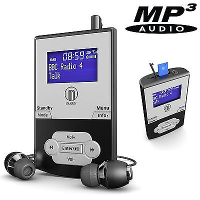 Portable Pocket Personal DAB Digital FM Radio Rechargeable Battery & MP3 Player